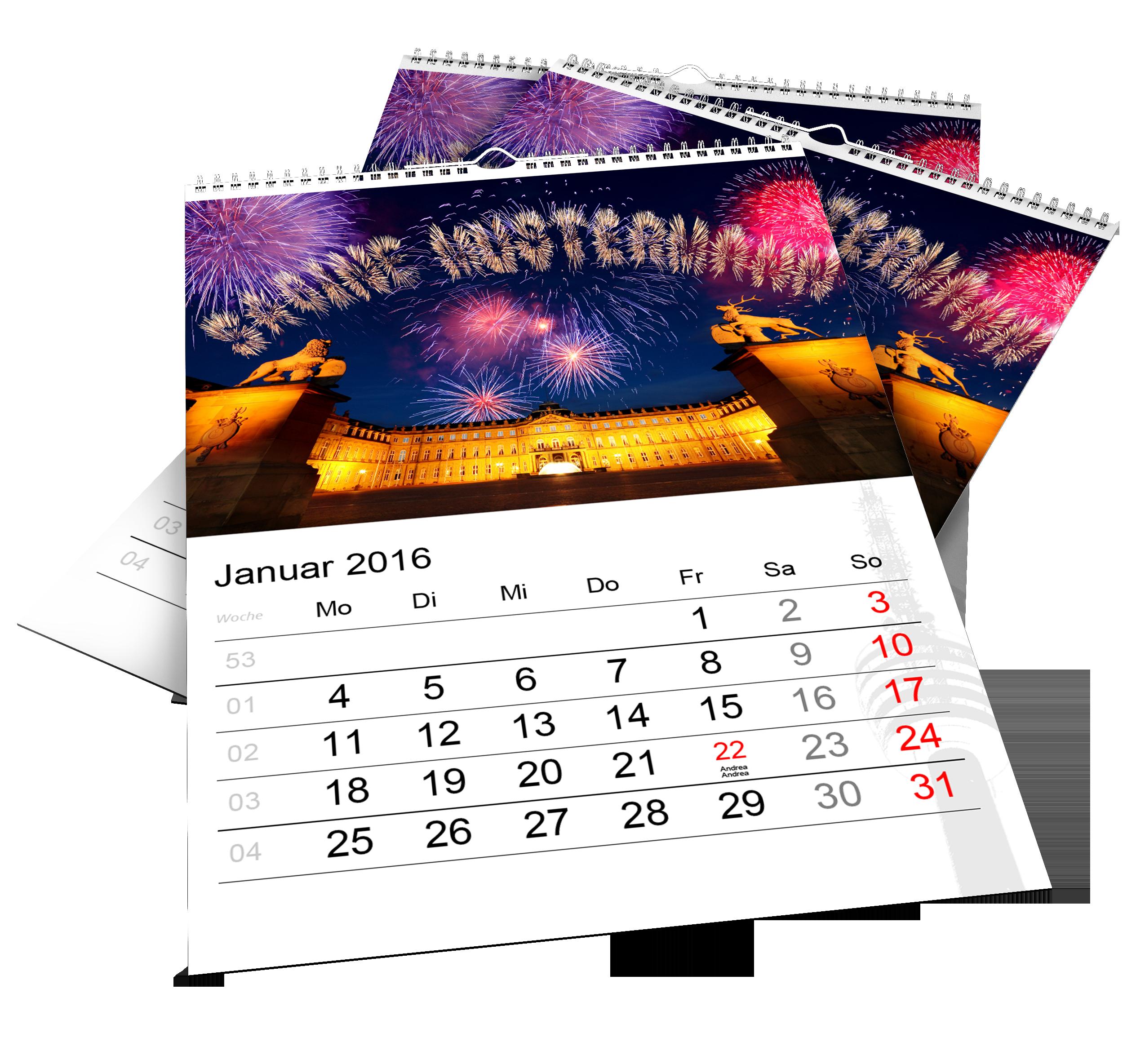 Bildpersonalisierte Kalender